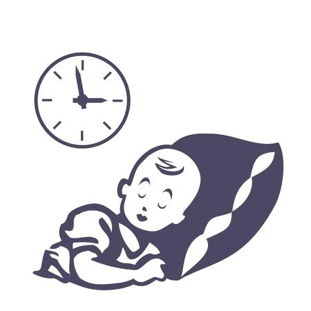 sleeps: baby sleeps Illustration