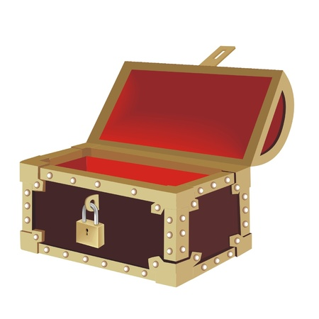 the gold chest Vector