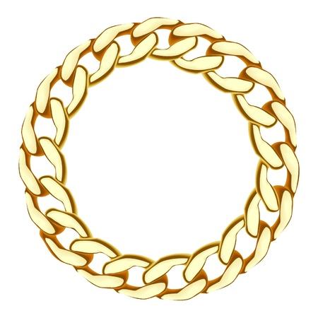 cadena de oro Ilustración de vector