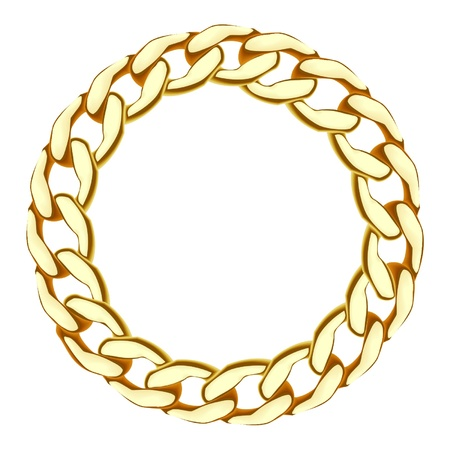 gold chain Stock Vector - 19898196