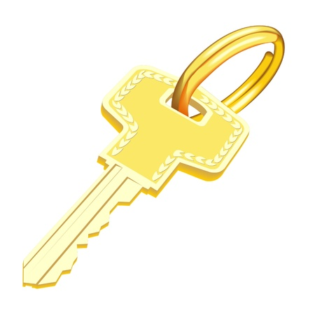 gold key Stock Vector - 19898150