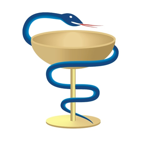 dispensary: snake and cup