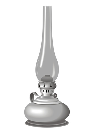 oil kerosene lamp Vector
