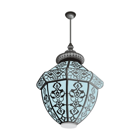Oriental lamp hanging Vector