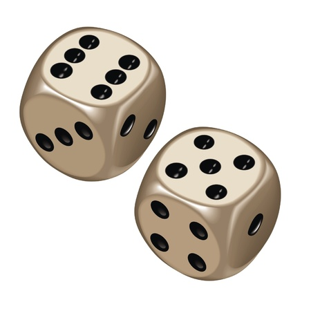 tossing: playing dice