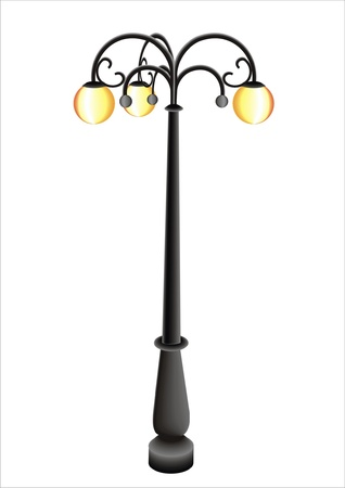 pole with a lamp Vector
