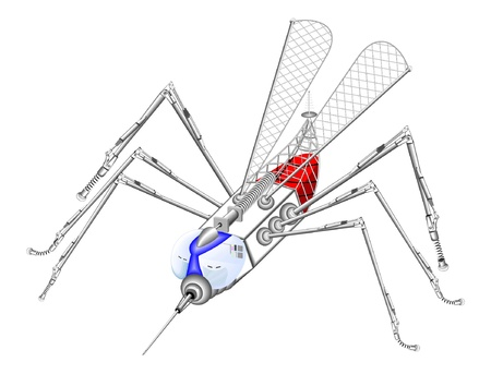 infected mosquito: mosquito-robot