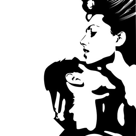 girl and boy Vetores