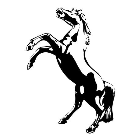 oeste: caballo Vectores