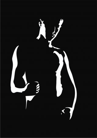Silhouette eines Mannes Standard-Bild - 20098518