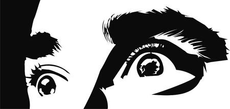 look at: eyes