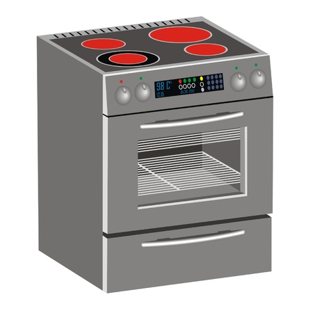 kitchen oven Vector