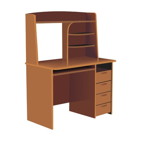 office cubicle: table