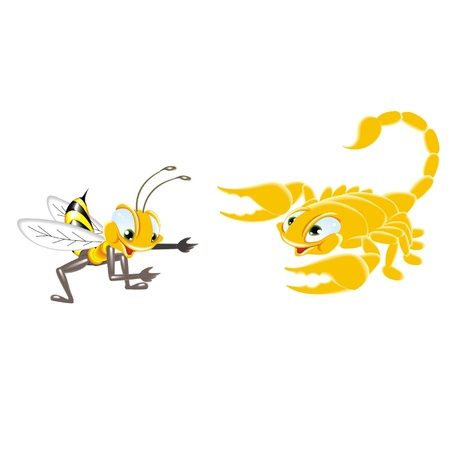 bee and scorpion Stock Vector - 21617002