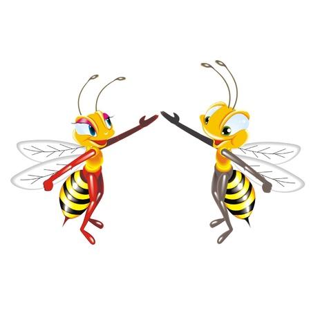 praiseworthy: bees dancing Illustration