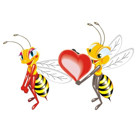 honeyed: bees love Illustration