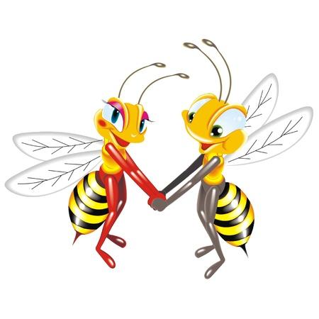 praiseworthy: bees love Illustration