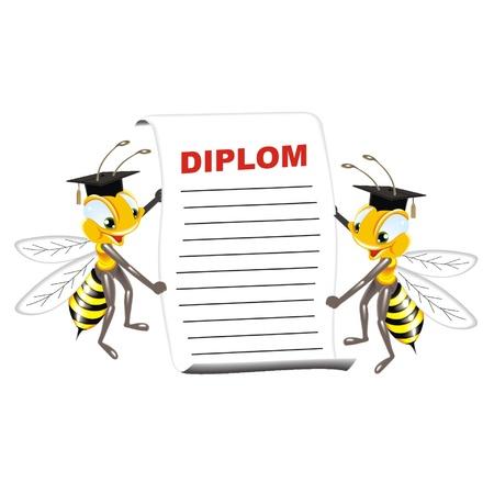 praiseworthy: bees with diplom