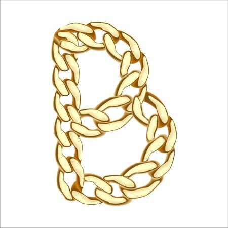 B carta de cadena de oro