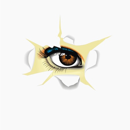 eye for paper Vector