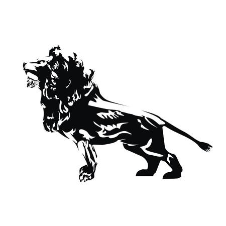 royal safari: lion Illustration