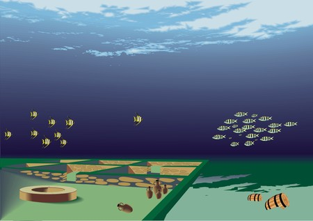 archeology: underwater archeology Illustration