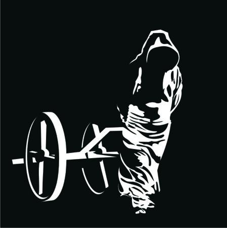 moine: moine tire la charrette Illustration