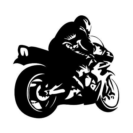 biker on a motorcycle Illustration