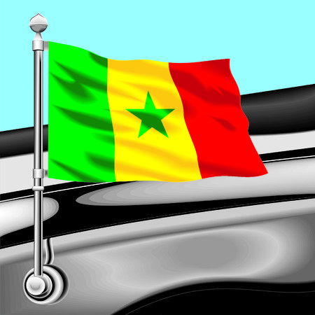 delegation: flag Senegal Illustration