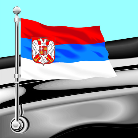 flag Serbia Illustration