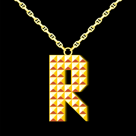 learning series: Gold letter R
