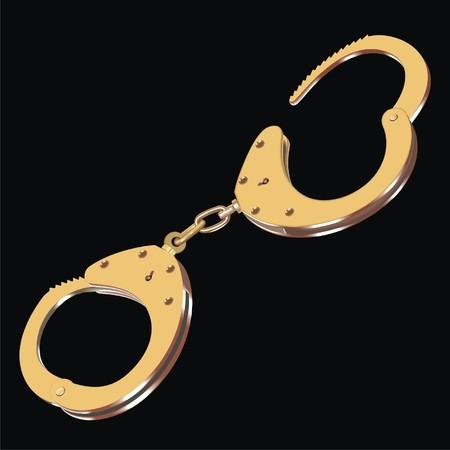 escape key: gold handcuffs