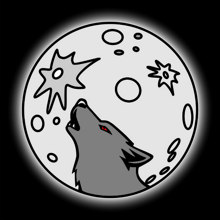 howl: wolf and moon