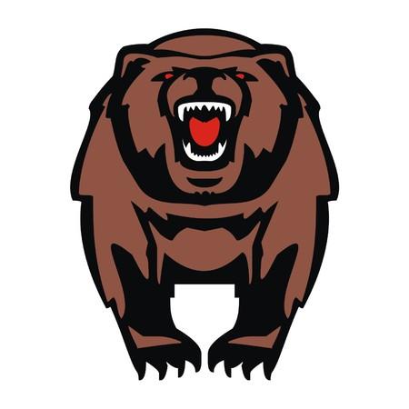 growl: bear Illustration