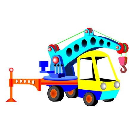 hoisting crane Illustration