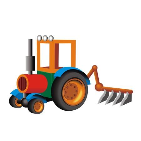 plow: tractor plow