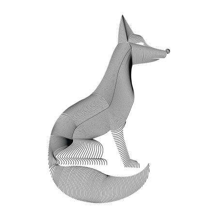 carcass: fox karkas Stock Illustratie