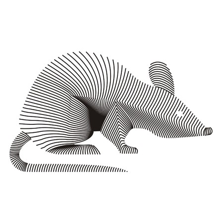 carcass: rat karkas Stock Illustratie