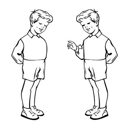 schoolkid: little boy