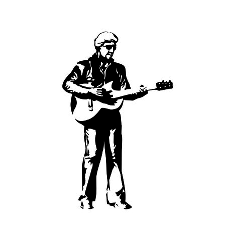 Bard with a guitar