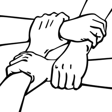 four hands: four hands Illustration