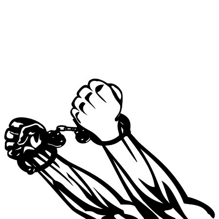 shackles: hand in handcuffs Illustration