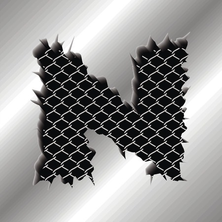 perforated: Letter N