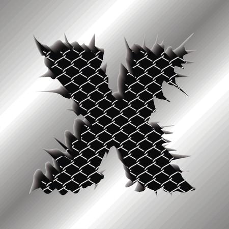 Letter X Illustration
