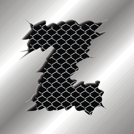 perforation: Letter Z Illustration