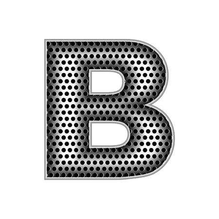 metal letters: metal letters B Illustration