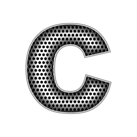 metal letters: metal letters C