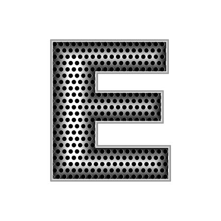 metal letters: metal letters E