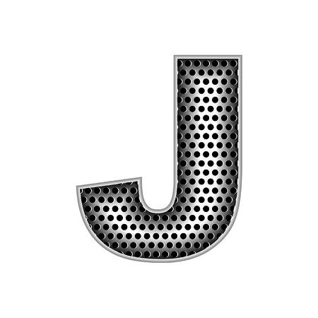 metal letters: metal letters J