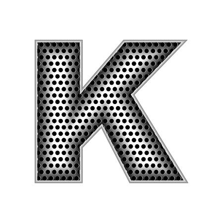 metal letters: metal letters K